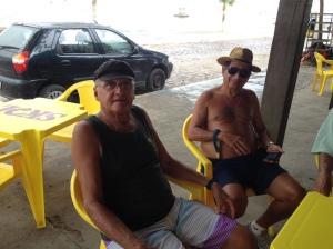 Toinho Sabacu e Sérgio Harfush, parte da agradável conversa