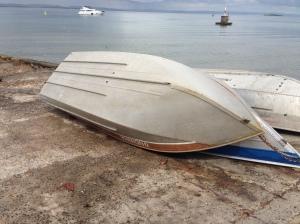 Barco de Xepa que ganhou motor de popa - presente do João