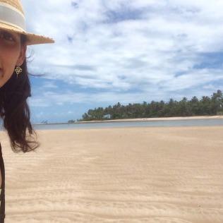 Joana e a areia branca!
