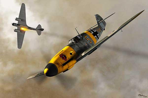 Messerschmitt-Bf-109-WWII-Nazi-Fighter-Title