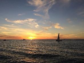 Por do sol na Baía de Todos-os-Santos